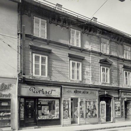 Die Jakoministraße 26 vor Paulina's Schmuckmanufaktur