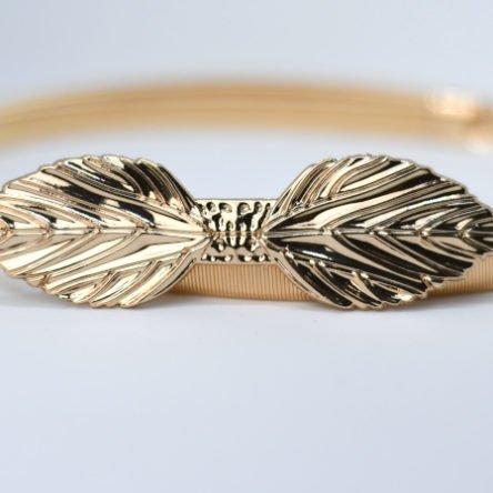Taillengürtel elastisch, Blätter 2 gold