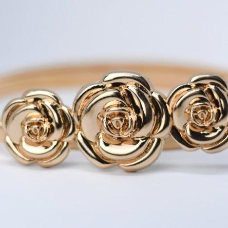 Taillengürtel elastisch, Rosen gold