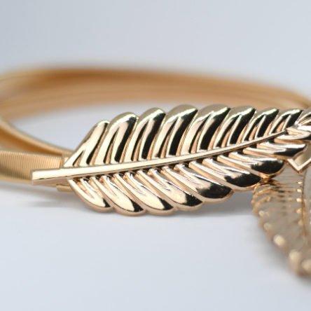 Taillengürtel elastisch, Blätter gold