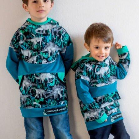 Kombi Paket Bow-Cut-Hoodie KIDS und Bow-Cut-Hoodie TEENS (Größen 74-116, 122-164)