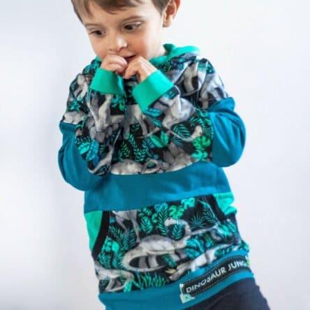 Bow-Cut-Hoodie KIDS Hoodie in den Größen 74-116