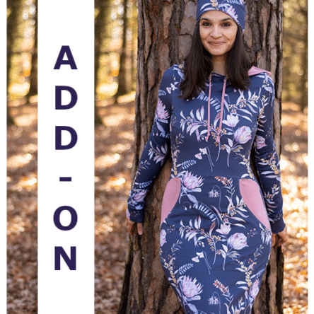 ADD-ON Bow-Cut-Hoodie Dress Damenkleid in den Größen 34-50
