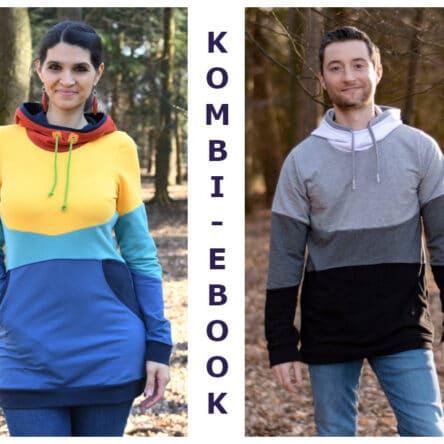 Kombi Paket Bow-Cut-Hoodie Women und Bow-Cut-Hoodie MEN (Größen 32-50, XS-XXL)