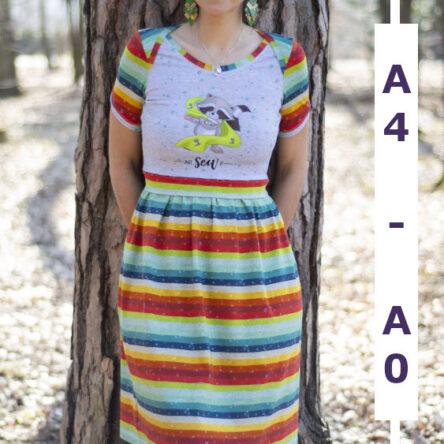 Americut-Dress Damenkleid in den Größen 32-50 A4 und A0